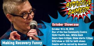 Addictive Comedy October Therapeutic Comedy Showcase october 2018