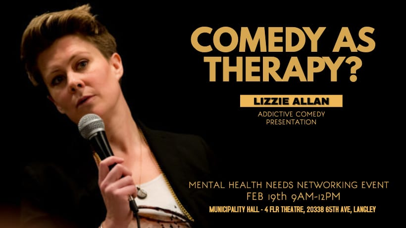 Lizzie Allan Mental Health Needs Networking Event Comedy as Therapy Talk 2019